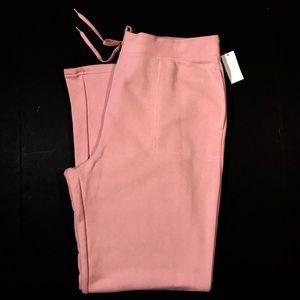 Laura Scott Fleece Sweat Pants Jogger Pink XL